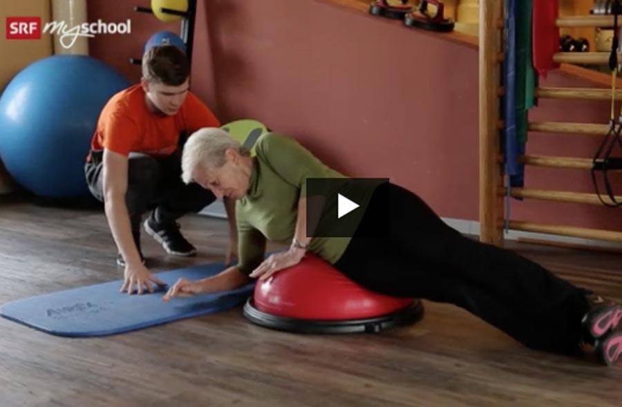 Fachmann/Fachfrau Bewegungs- und Gesundheitsförderung EFZ – Film mit Porträt eines Lernenden